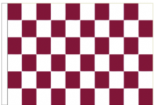 Maroon And White Check 5' x 3' Larger Sleeved Flag